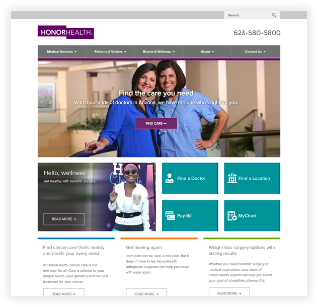 HonorHealth Website