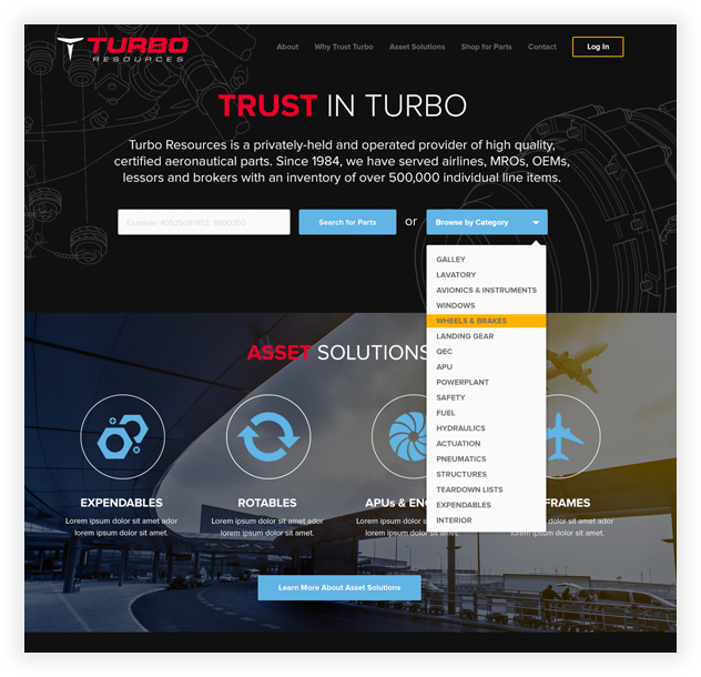 Turbo Resources Website