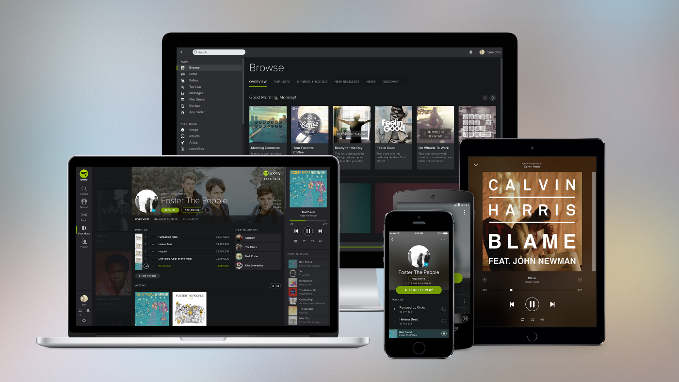 Spotify product family, post design language